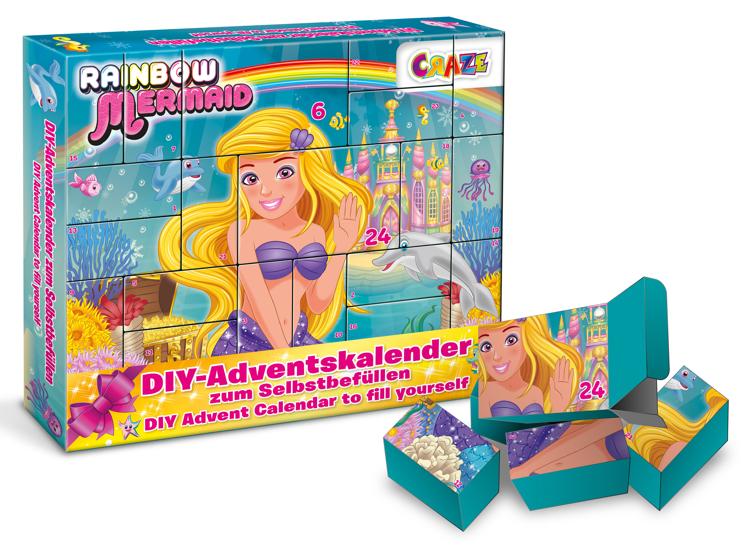 RAINBOW MERMAID DIY Adventskalender - zum Befüllen