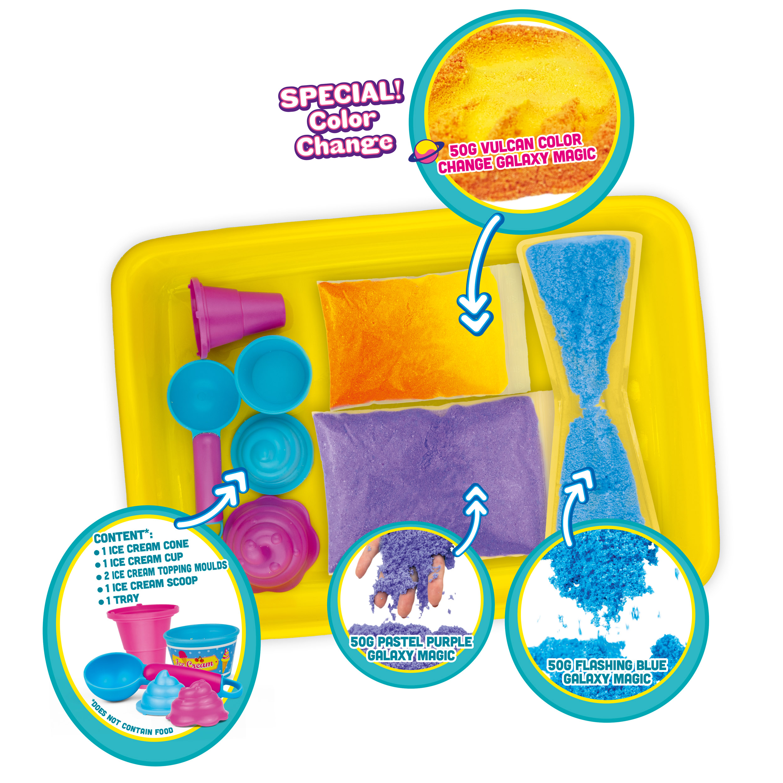 GALAXY MAGIC Ice Cream Box - Set mit 3 Farben